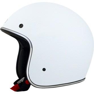 casco afx fx-76 sólido rostro abierto blanco md
