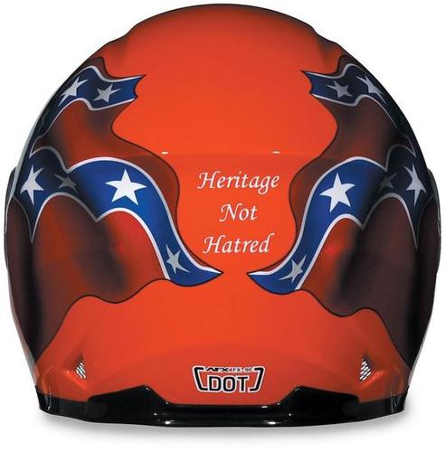 casco afx fx-90 rebel rostro completo naranja xs