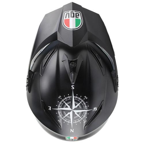 casco agv ax-8 evo ds mx/offroad negro/blanco talla xl
