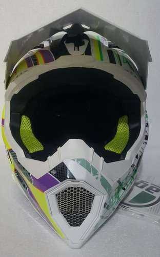 casco agv cross ax-8 flame remate!!!! rider one