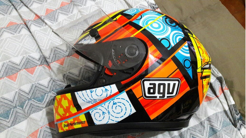 casco agv gp tech talle m exelente estado 46 vr