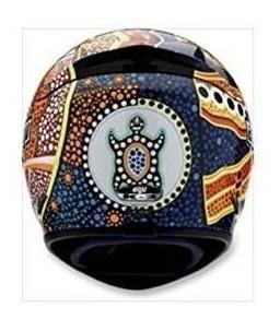 casco agv k3 dreamtime - grande / naranja / azul
