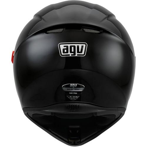 casco agv k3 sv rostro completo negro brillante sm