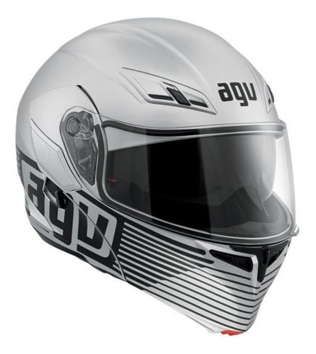 casco agv multi-audax matt silver