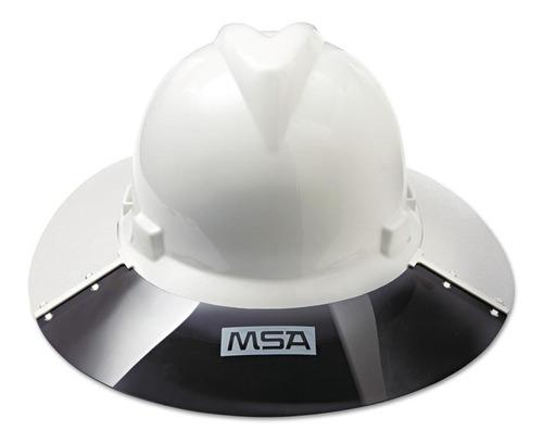 casco ala ancha msa c/ visera msa y 3 barbiquejo