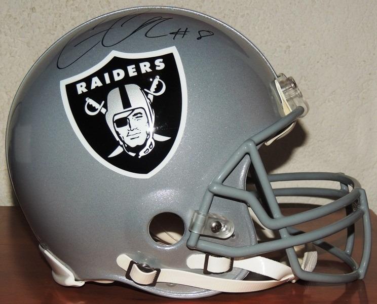 Casco Americano Riddell Raiders Oakland Firmado Connor