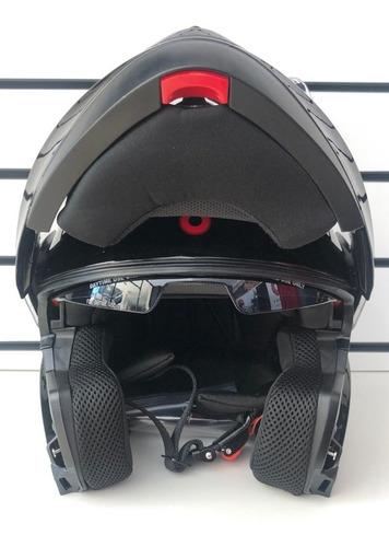 casco athos helmets honor modular negro brilloso