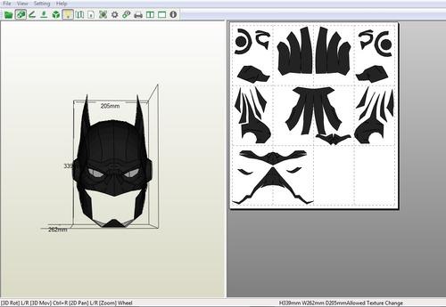 casco batman the justice league para armar