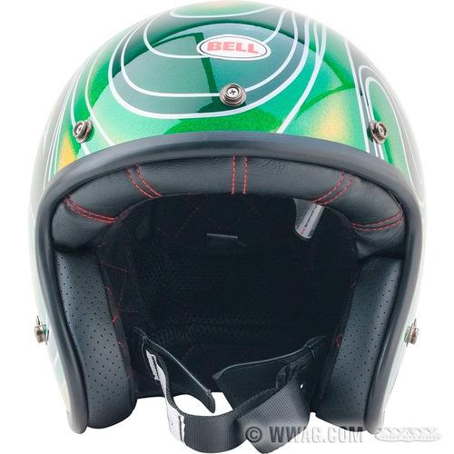 casco bell custom 500 green candy talla m