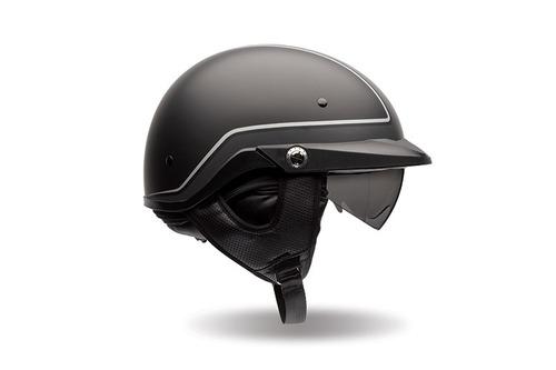 casco bell pit boss pin rostro abierto negro/gris sm
