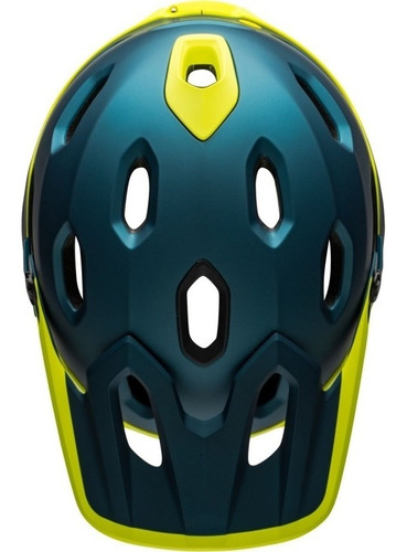 casco bell super dh mips mentonera desmontable m/g blu/hivz