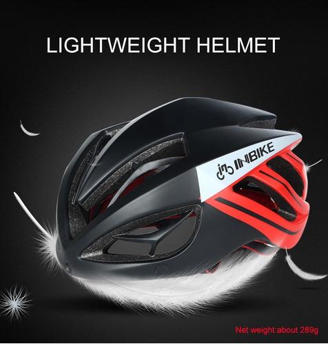 casco bicicleta con gafas magnéticas ciclismo inbike 30% off