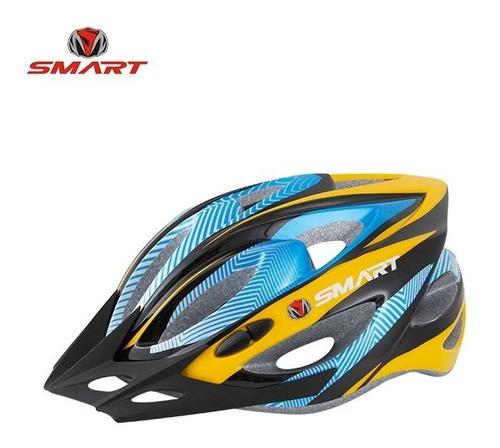 casco bicicleta con visera c/ regulacion + ventilaciones - envio gratis!