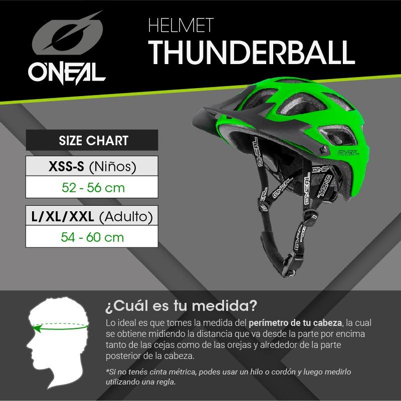 Verde XXS ONeal Oneal THUNDERBALL 2.0 Solid Casco Bicicleta