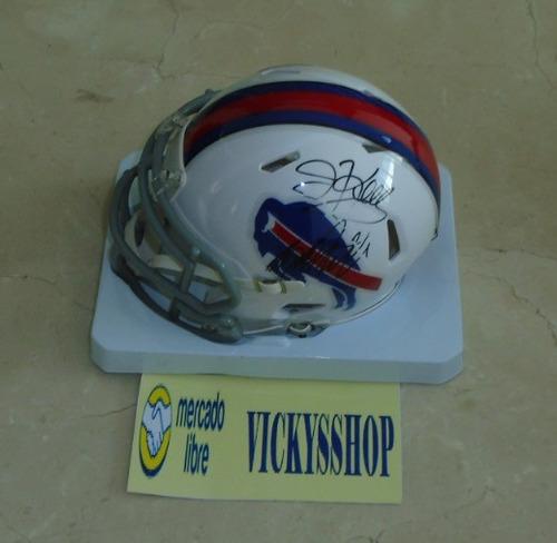 casco bills firmado por jim kelly y bruce smith certificado