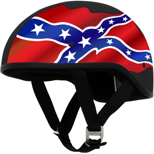 casco boina afx fx-200 liso con gráfico negro rebelde lg