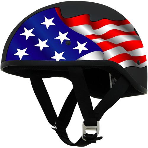 casco boina afx fx-200 liso con gráfico negro sm freedom