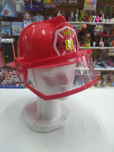 casco bombero plastico duro disfraz cotillon