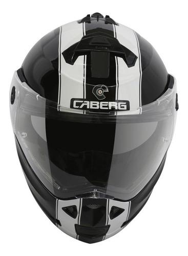 casco caberg duke legend rebatible blanco-negro con pinlock