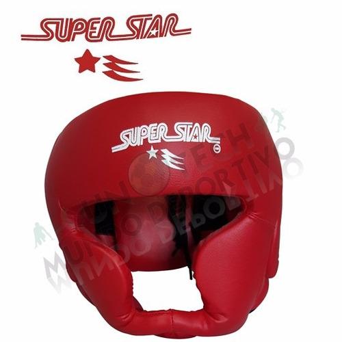 casco cabezal con pomulos superstar rojo