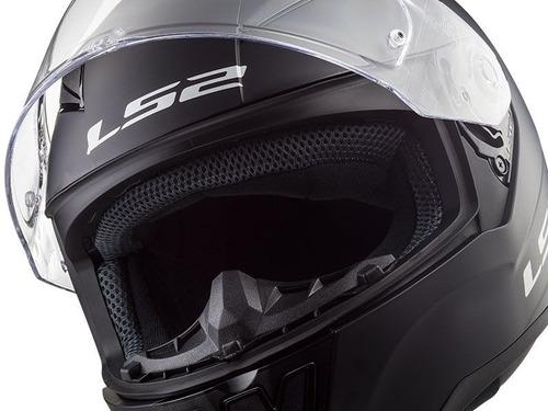 casco cerrado ls2 rapid solid ngo/mate ff353 rider one