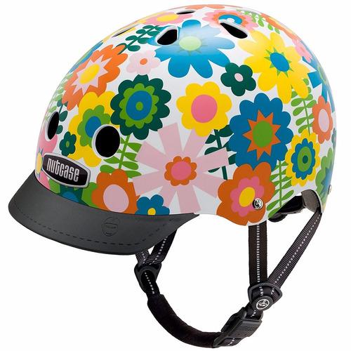 casco chico nutcase, flores