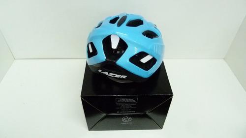 casco ciclista lazer motion light blue talle l