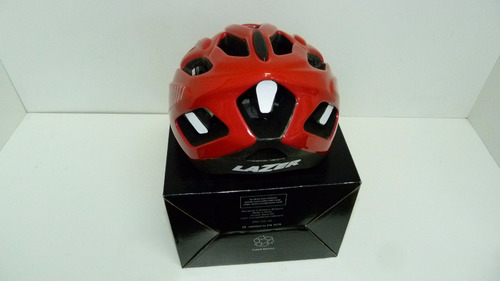 casco ciclista lazer motion red talle l