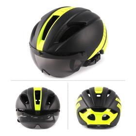 Casco Con Gafas Para Bicicleta E Alta Resistencia