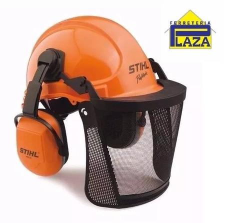 casco con protección visual y auditiva para motosierra stihl