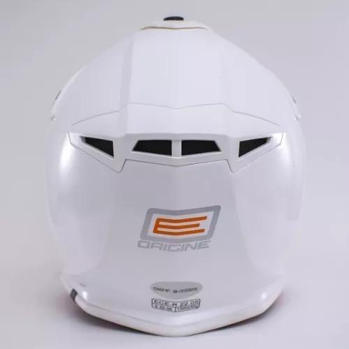 casco cross enduro origine v325 blanco cierre doble anilla