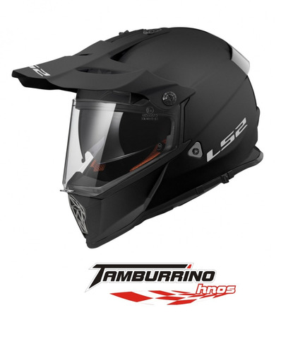 casco cross ls2 pionner mx 436 negro mate - tamburrino hnos