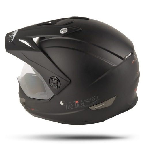 casco cross mx630 negro mate visor visera nitro 630 fasmotos