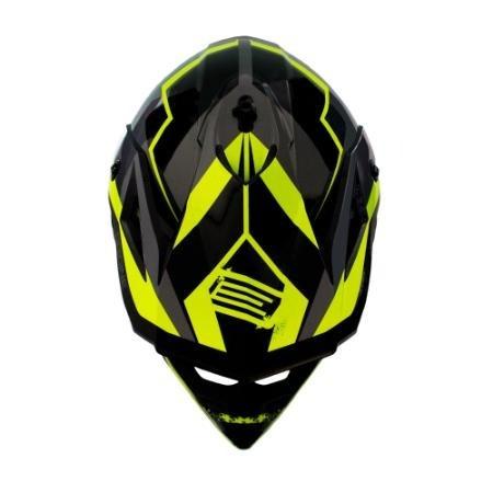 casco cross origine v325 arrow negro con cierre doble anilla