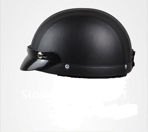 casco cuero con visera moto bici skater deporte extremos