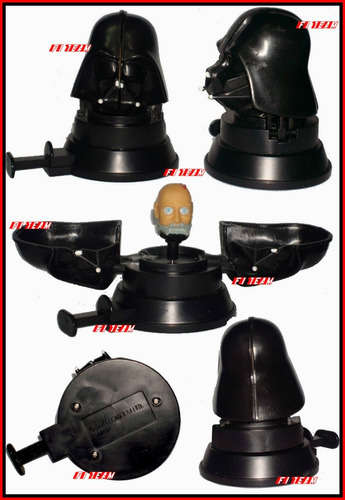 casco darth vader de 1997 gira y muestra su rostro star wars