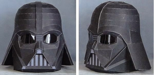 casco darth vader tamaño natural (para armar en papel)