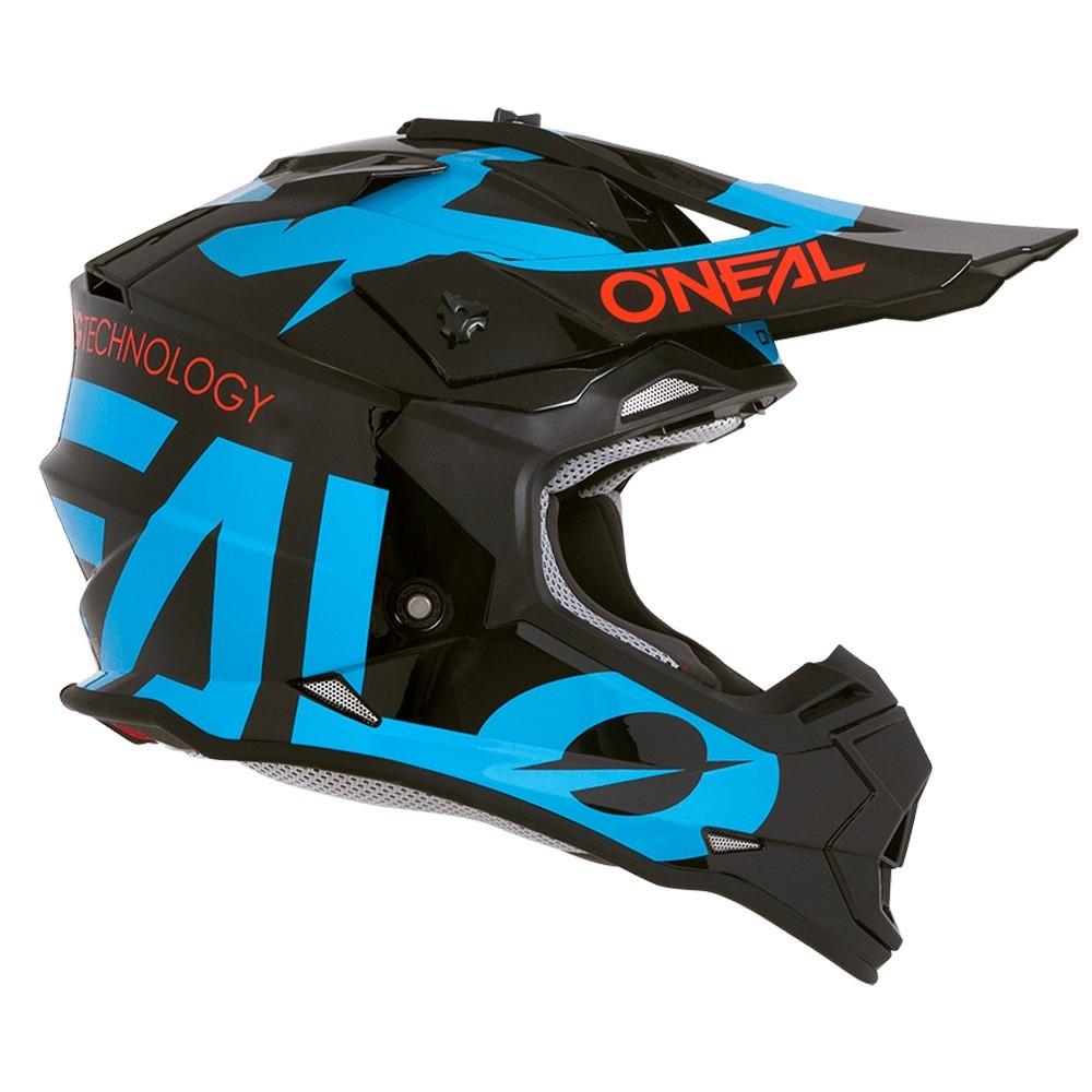 2cde5ca34831b casco de cross oneal 2 series slick black blue marelli. Cargando zoom.