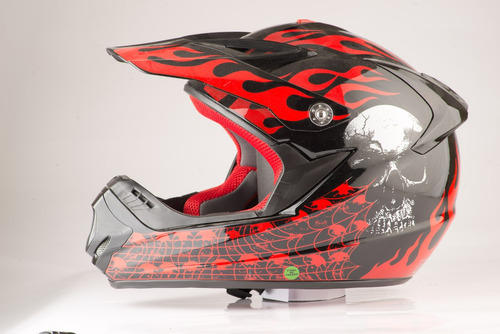 casco de moto cross rbk edge 13 original nuevo