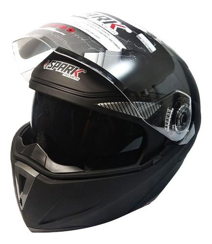 casco de moto integral abatible doble visor spark dk tiendas
