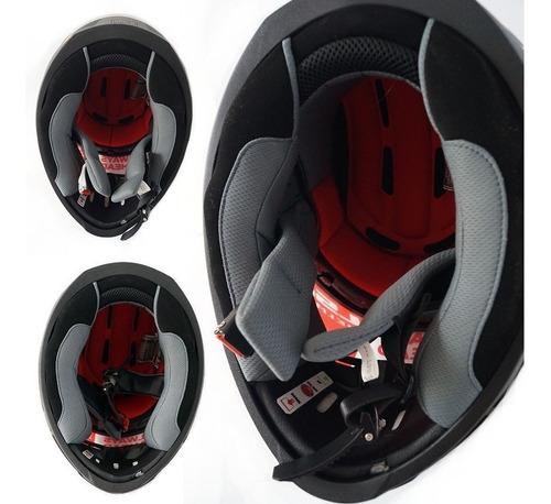casco de moto ls2 con sistema integrado bluetooth talla l