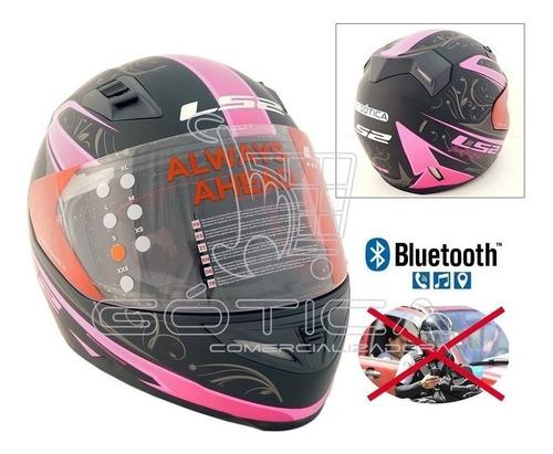 casco de moto ls2 con sistema integrado bluetooth talla s