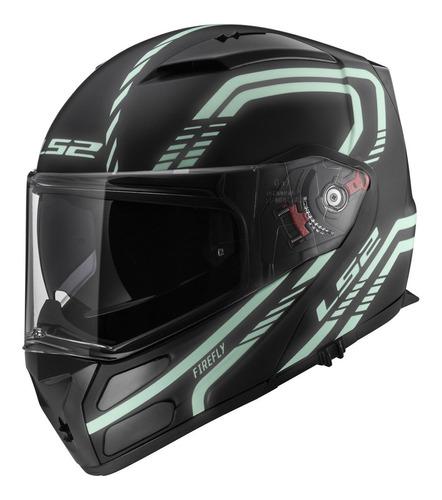 casco de moto modular ls2 324 evo firefly reflectivo yuhmak