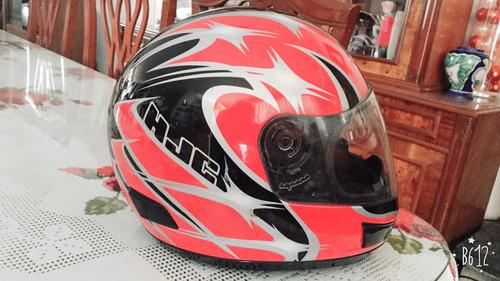 casco de motocicleta hjc ac-10 rojo/negro