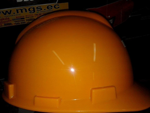 casco de seguridad con ratchet color amarillo marca ingco.