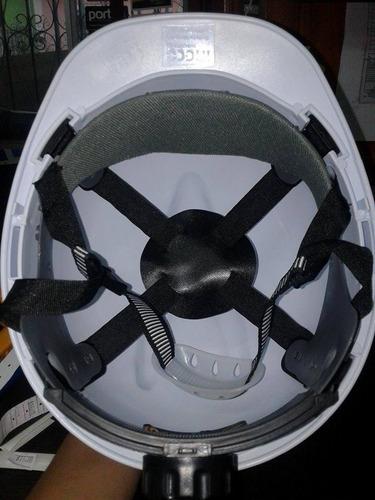 casco de seguridad con ratchet color blanco marca ingco.