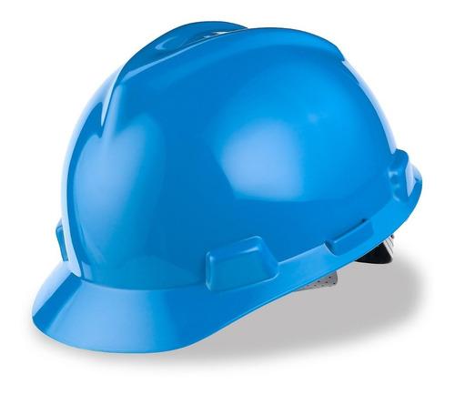 casco de seguridad industrial msa tipo cachucha con matraca