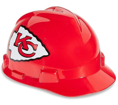 casco de seguridad nfl - kansas city chiefs
