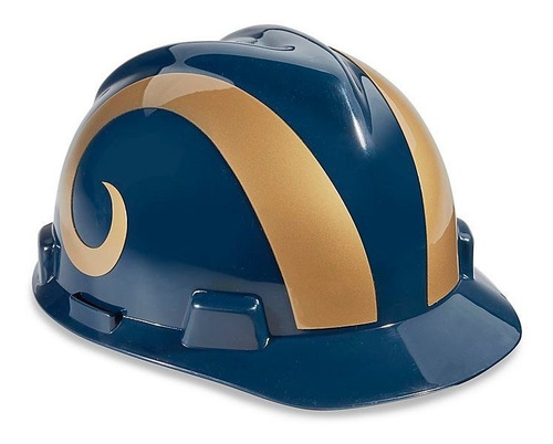 casco de seguridad nfl - rams de los angeles