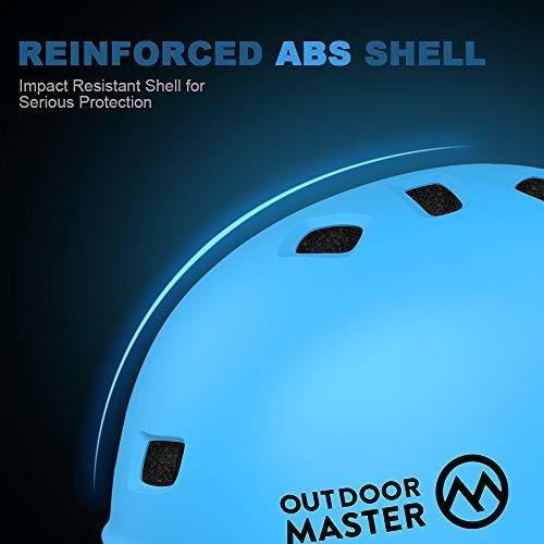 casco de skateboard outdoormaster - casco de bmx ligero, de